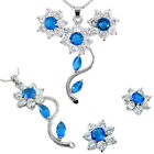 Costume Jewellery Jewelry Set White Gold Plated Earrings Necklace For Dress