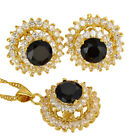 Costume Jewellery Jewelry Set Round Cut rhinestone Pendant Necklace Earrings