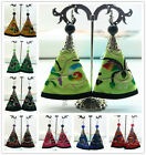 Chinese Classical Ethnic Handmade Colorful Embroidery Dangle Hook Earring 8color