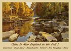 New England Massachusetts Vermont Maine Travel Vintage Poster Repro FREE S/H