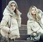 WOMENS STYLISH HOODIE WARM WINTER THICKEN HOODIE DOWN JACKETS COATS OUTERWEARS