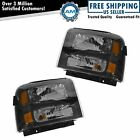 Headlights Headlamps Pair Set NEW for 05-07 Ford Super Duty Harley Davidson