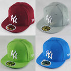New Era Kids 59fifty NY New York Yankees MLB Fitted Flat Peak Hat Cap 4 Colours