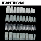 500pcs Manicures DIY Acrylic French Half False Nail Art Tips White Natural Clear