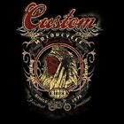 CUSTOM MOTORCYCLE INDIAN WARRIOR SLEEVELESS T SHIRT W/FREE HARLEY DECAL