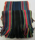 GL345 - RJM Accessories Mens Striped Scarf - Colours; Black/Multi&Navy/Multi