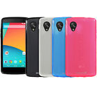 Slim Flexible Frosted Matte TPU Gel Rubber Case Cover Skin for LG Google Nexus 5