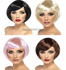 Smiffys Short Stylish Babe Bob Wig 20s Flapper 60s 70s 80s Ladies Fancy Dress