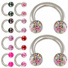 1.2 horseshoe ring steel circular eyebrow lip bar barbell nipple ball 2pcs 9GDK