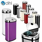 Dihl Round & Rectangular Automatic Sensor Bin Chrome Lid Various Sizes & Colours