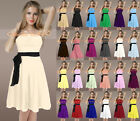 NEW Bridesmaid Dress Prom Dress Wedding Gown Chiffon Size 6 8 10 12 14 16 18