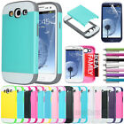 Hybrid Best Impact Dual Layer Hard Case Cover For Samsung Galaxy S3 S III i9300