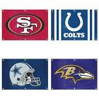 Choose Your NFL Football Team 2' x 3' Applique Embroidered Fan Banner Flag