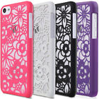 For Apple iPhone 5C Hard Rubber Matte Transparent Flower Cover Color Case Skin
