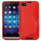 TPU WAVE GEL CASE SKIN COVER FOR BLACKBERRY Z30 + LCD SCREEN PROTECTOR GUARD
