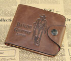 Mens Leather Bifold Pockets Card Clutch Cente Money Clip Cad Holder Wallet Purse