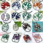 1pc Handmade Wire Wrap Form Life-Tree Chips Charm Gemstone Bead Necklace Pendant