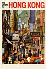 The Orient is Hong Kong Asia Travel Tourism Trip Vintage Poster Repro FREE S/H