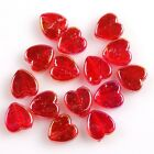 300/1500pcs New Charms Mixed Colors Plated AB Heart Acrylic Beads Fit Craft DIY