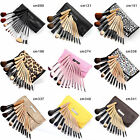 Fräulein3°8 12 Pcs Wooden Brushes Set Cosmetic Make Up Brush Applicator Set