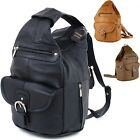 Womens Leather Backpack Purse Sling Shoulder Bag Handbag 3 in 1 Convertible New