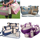 5pcs Multifunction Women Mummy Baby Diaper Nappy Tote Shoulder Bag Handbag Pad