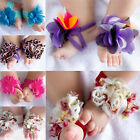 Sale New Barefoot Socks Sandals Shoes Flowers Feet Toes Baby Blooms Foot Flowers