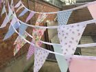 Clearance Handmade Fabric Bunting.shabby Chic.weddings,vintage Florals.