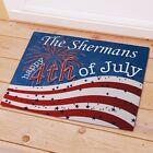 Personalized July 4th Doormat Patriotic Independance Day Family Name Doormat
