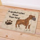 Personalized Boxer Dog Doormat A Spoiled Boxer Lives Here Welcome Dog Doormat