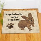 Personalized Yorkie Doormat Spoiled Rotten Yorkie Lives Here Dog Name Doormat
