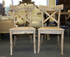 Conrad X Back Side Dining Chairs Bleached Wood Solid- New In Box