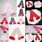 VALENTINE'S DAY HEART Print Baby Girl Cotton Ruffle Leg Warmer Legging Cloth Kid