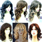 Gorgeous Long Wavy Short Curly Lady Blonde Wig Black Brown Red Wigs