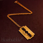 FUNKY RAZOR BLADE CHARM NECKLACE CUTE KITSCH RETRO EMO GOTHIC STEAM PUNK HORROR