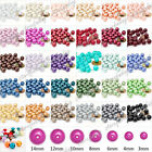 3/4mm 6mm 8mm 10mm 12mm 14mm Plexiglass Pearl Loose Spacer Round Beads 31 Color