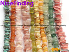 3-13mm Natural Freeform Disc Chip Spacer Gemstone Beads For Jewelry Making 15""