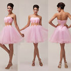 Pink Angel Strapless Short Ball Cocktail Evening Prom Party Dress Grace Karin