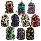 BUTTERFLY - OWL Faux Leather Oilcloth Rucksack Backpack Hand Handle / Strap Bag