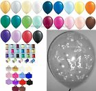 10 Table Kit Clear Butterflies Helium Balloons Ribbons Weights Wedding Birthday