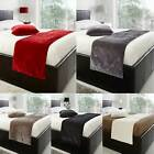 VELVET BED RUNNER BLACK RED GREY CREAM MINK 48cm x 195cm FREE POSTAGE