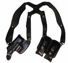 Leather Horizontal Shoulder Holster For Beretta PX4 Storm Sub Compact Full Size