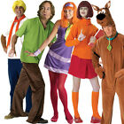 Adult Scooby Doo Licensed Fancy Dress Halloween Costume 80s Outfit New Wig