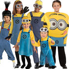 Child Licensed Despicable Me Minion Fancy Dress Up Costume Outfit Boys Girls New