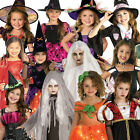 Girls Halloween Fancy Dress Costume Outfit New Scary Horror Zombie Kid Hat Child