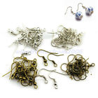 110Pcs/Pack Ear Coil Wire Gun Metal Bead Earring Fish Hooks Finding 5 Colors New
