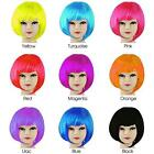 Womens Ladies Short Bob Fancy Dress Full Hair Clip Wig Costume Cosplay Party