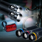 2x CREE Q5 LED Mountain Bike Bicycle Cyclings Zoomable Front Lights + 5 LED Rear