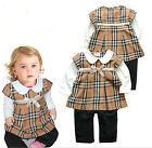 1pc Infant Girl Baby Toddler Kids Plaids Romper Dress Jumpsuit Outfit Clothing