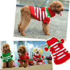 Cute Xmas Gift Pet Dog Puppy Striped Ball Knit Jumper Sweater Clothes Winter O